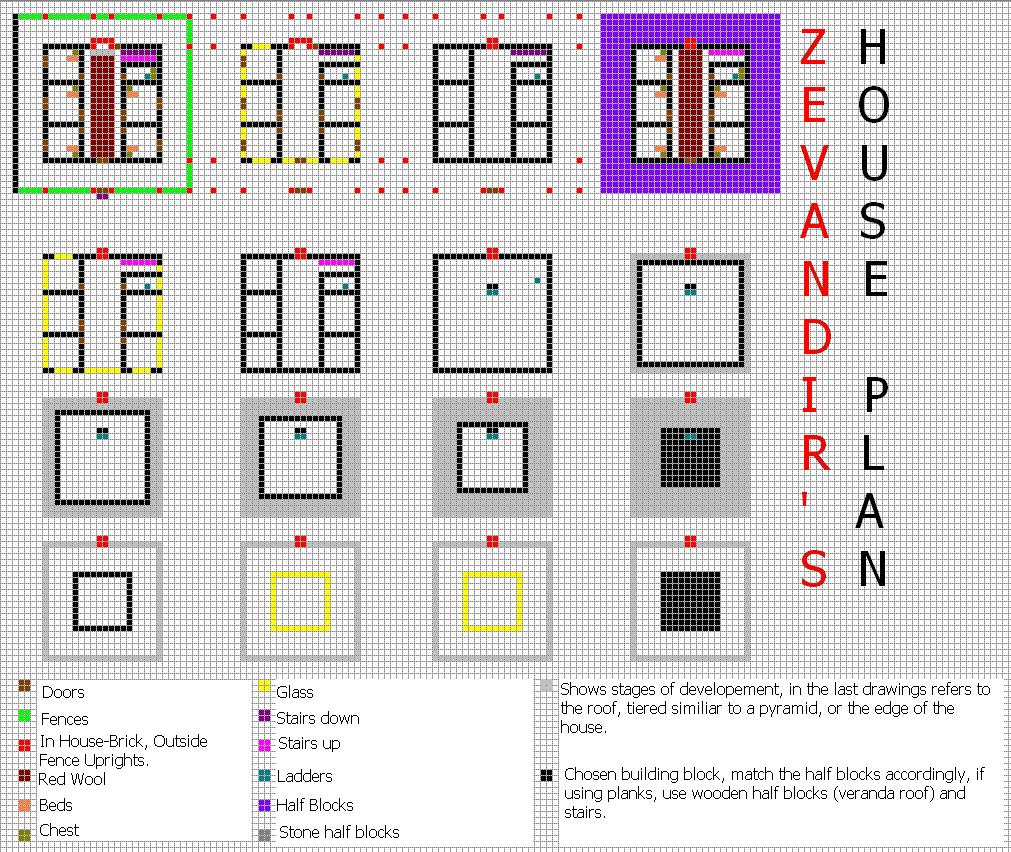 Stunning Minecraft House Blueprints 1011 x 852 · 317 kB · jpeg