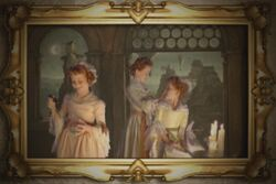Portrait of three young ladies