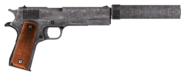 .45 Auto pistol with the silencer modification