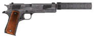 .45 Auto pistol with all the modifications, including cut content