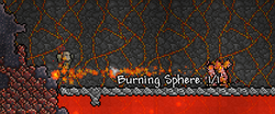 Burning sphere