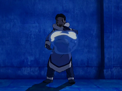 Katara bending a water bubble