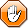 Stop hand nuvola orange.svg