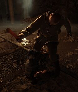 Prison Guard beating up Reznov