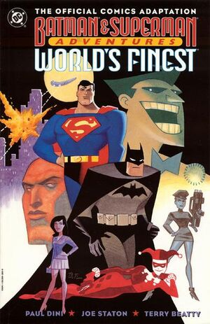 Cover for Batman and Superman Adventures: Worlds Finest: The Official Comics Adaptation #1