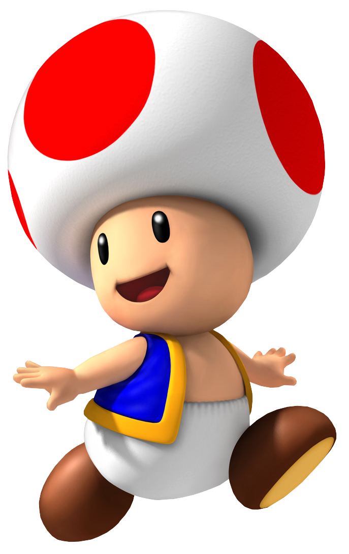 Toad dans Mario bros Toadazurislols