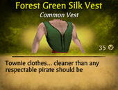 Forest Green Silk Vest