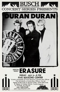 Five Seasons Center, Cedar Rapids, Iowa, USA duran duran