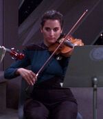 Female violin player