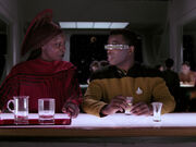 Guinan and Geordi La Forge (2366)