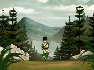 Toph walking