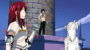 Lucy and Erza's reactions