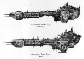 Ultramarines Battle Barges