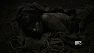 Laura Hale&#39;s corpse after wolfsbane is removed