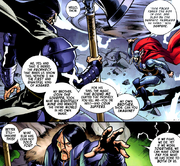 Thor Odinson (Earth-616) and Cul Borson (Earth-616) from Fear Itself Vol 1 4