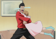 Ep330 Isshin hugs Yuzu