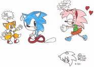 Sonikku Amy Tails Funny