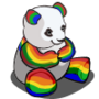 Rainbow Panda-icon