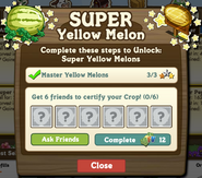Super Yellow Melon Certify