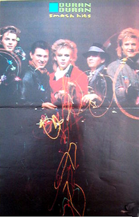 Poster duran duran smash hits fire works