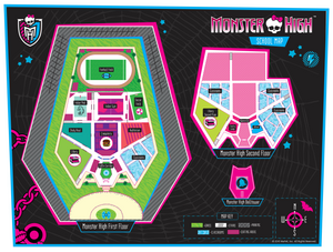 Map of the Monster High campus as displayed on the official website.