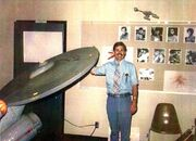 USS Enterprise studio model on its first public appearance