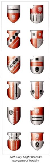 Grey Knights - Examples of Personal Heraldry