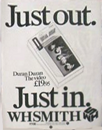 Duran duran advert duran uk wh smith