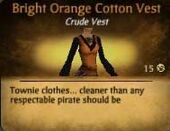 Bright Orange Cotton Vest
