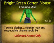 Bright green cotton blouse