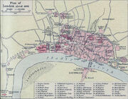 Plan of London in 1300