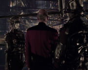 Jean-Luc Picard aboard Borg cube