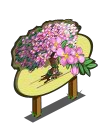 Pink Hanging Flower Tree Mastery Sign-icon