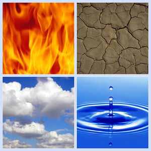 Fire-earth-air-water