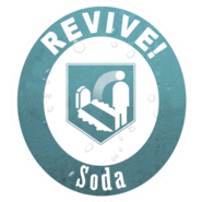 The quick revive logo note how it says revive soda instead of quick