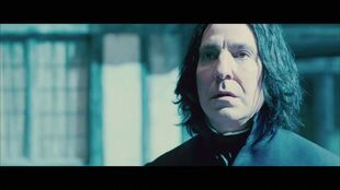 Severus in front of the house of potters