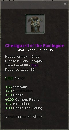 Chestguard of the painlegion