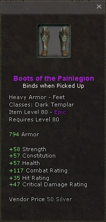 Boots of the painlegion
