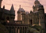 Hogwarts viaduct entrance view
