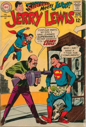 Cover for Adventures of Jerry Lewis #105