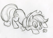Applejack with Frog Sketch