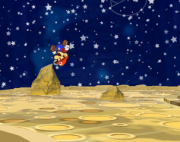 Mario Shoots the Moon