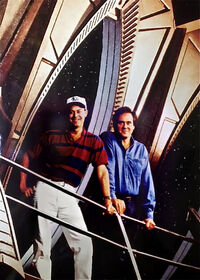 Piller and Berman, DS9 set