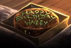 Harry&#39;s birthday cake