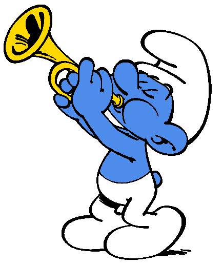 cartoon of a trumpet player
