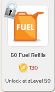 50 Fuel Refills Rewardville locked