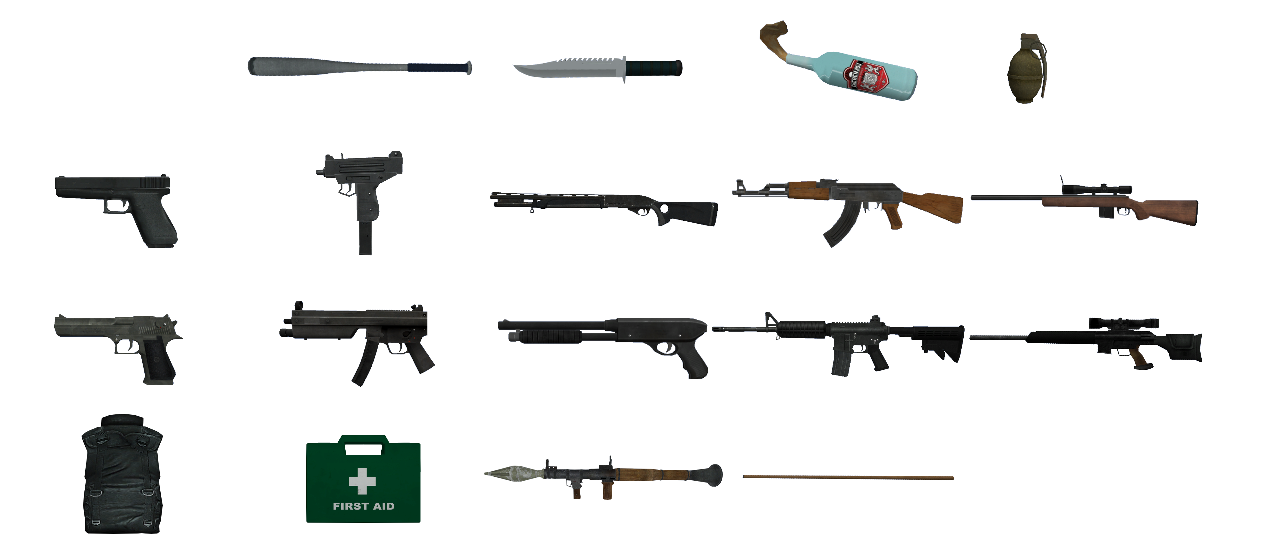 Image - GTA IV guns.png - GTA Wiki, the Grand Theft Auto ...