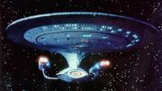 USS Enterprise presenting itself to the world