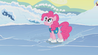 Pinkie Pie standing on ice S1E11
