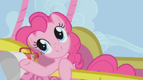 Pinkie Pie commenting about the race S1E13